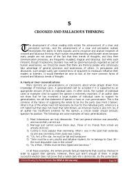5 Crooked Fallacious Thinking Argument Fallacy