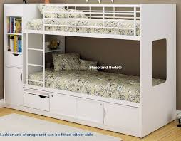 youth beds with storage. Contemporary Beds White Wooden Bunk Bed Storage And Ladder On Light To Youth Beds With Storage E