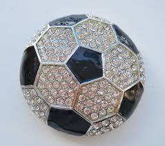 rhinestone soccer ball belt buckle