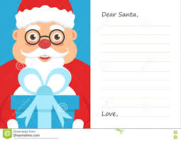 Letter Dear Santa Claus For Merry Christmas Or New Year