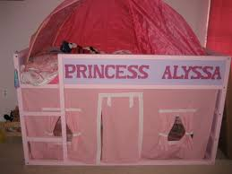 Personalized Bedroom Decor Personalized Kura Bed Fit For A Princess With Playhouse Underneath