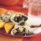 black bean and poblano tortilla wraps