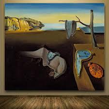 2016 print oil painting melting clocks salvador dali abstract melted clock painting