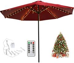 Umbrella Lights Patio Led Umbrella String Lights 104 Leds 8 Lighting Mode With Remote Control Umbrella Lights Battery Operated Waterproof Outdoor Lighting For Patio