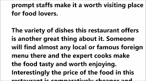 essay on my favourite food describe your favourite restaurant  describe your favourite restaurant ielts speaking