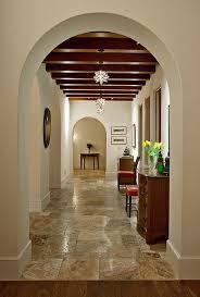 Hope Ranch Spanish Style Custom Home Hall mediterranean-hall
