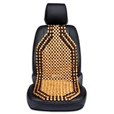 massage car seat cover wood beaded cushion roller chair relax drive back comfort 716669915424