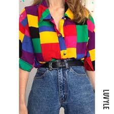 Luvyle Women's <b>Casual Geometric patterns</b> Coloring <b>Long</b> Sleeve ...