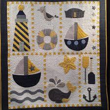 125 best BEACH QUILTS images on Pinterest | DIY, Appliques and Crafts & Cute Nautical Quilt! Patchwork ... Adamdwight.com
