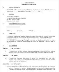Upon agreement by both parties, the work schedule, location, and payment cycle are written in the employment contract. 9 Job Order Forms Free Sample Example Format Download Free Premium Templates