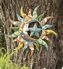 metal talavera sun moon and star wall art on sun moon garden wall art with sun moon amp stars garden d eacute cor by theme garden art