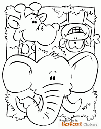 Safari Coloring Page Preschool Submited Images