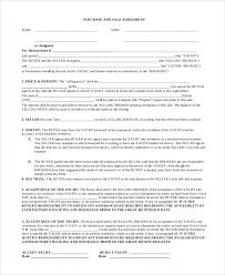8+ Sample Purchase And Sale Agreements | Sample Templates