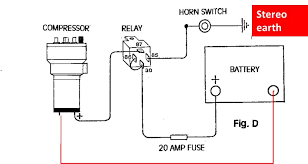 air horn wiring diagram for vehicle air wiring diagrams cars