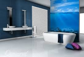 Black And White Bathroommy Inspiration For My Basement Bathroom Bathroom Wallpaper Murals