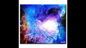magical abstract painting technique utilizing plastic wrap dranitsin