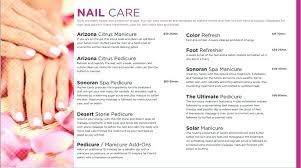 Spa Menu Of Services Template Spa Massage Salon Price List Poster Template Service Menu Templates