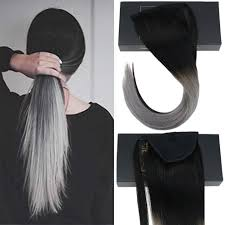 Sunny Hair Design Sunny Wrap Around Human Hair Ponytail Extensions For Women Clip In Remy Human Hair Ponytail