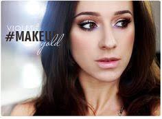 alina rose makeup makijaż złoto i fiolet z kreską alina makeupbyalinna insram