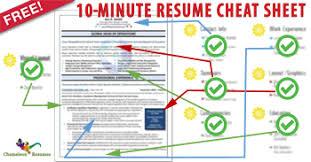 ... Innovational Ideas Resume Cheat Sheet 2 10 ...