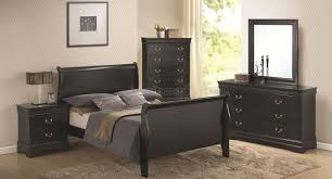 Louis Bedroom Furniture Louis Philippe Sleigh Bedroom Set Deep Black Bedroom Sets