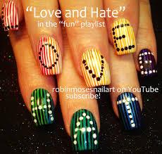 Robin Moses Nail Art: cutest love and hate nails, cutest nails ...