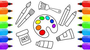Paint Coloring Pages Paint Brush Coloring Page Many Interesting