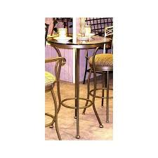 get ations porterville round glass pub bar tables standard finish matte black 40 in