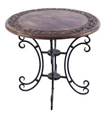 bulk whole round accent table in mango wood 20 5 hand carved folding coffee table with iron
