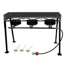 54 000 btu heavy duty portable propane gas triple burner outdoor cooker