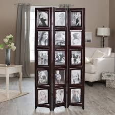 memories double sided photo frame room divider  rosewood  panel