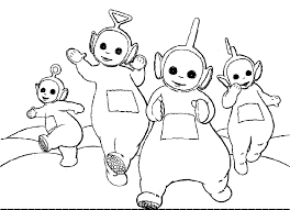 Small Picture Free Printable Teletubbies Coloring Pages For Kids