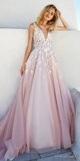 pink wedding gowns. Eva Lendel 2017 Wedding Dresses Santorini Bridal Campaign The