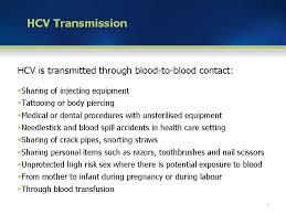 Module 2 Hcv Transmission And Risk Factors