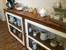 country themed reclaimed wood bathroom storage: diy tutorial to build a buffet or console table from old windows and reclaimed wood the