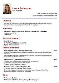Sample Cv Resume Internship Laura Gallery For Website How To Write A