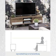 Tv Stand Size Chart Top 20 Of Sinclair White 74 Inch Tv Stands