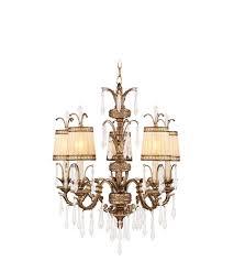 livex 8805 65 la bella 5 light 26 inch vintage gold leaf chandelier ceiling light