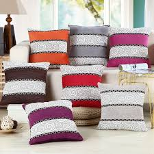 a life 45 45cm modern stripe cushion cover linen cotton blend pillowcase home car