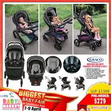 graco modes select travel system 3 in 1 stroller infant car seat base