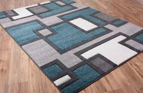 geometric area rugs contemporary color