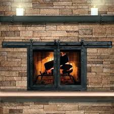 how to make a barn door style fireplace screen screens doors and gl split