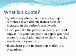 What Is A Quote Gorgeous Writing Using Leadins Quotes And LeadOuts In Paragraphs And