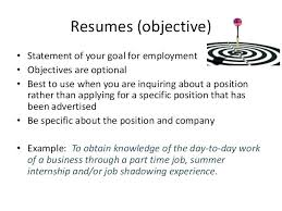 Objectives For Resume Mesmerizing Objective In Resume Resume Pro