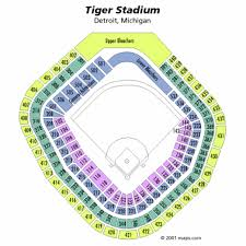 Detroit Tigers Seating Chart Tiger Stadium Seating Chart
