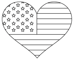 Small Picture heart shape American flag coloring Free Coloring Book Picture