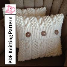 Knitted Pillow Cover Patterns