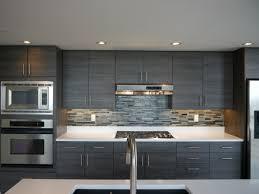 modern cabinet refacing. Textured Innovative Design Series Cabinets, New Island, Quartz Countertops, Linear Glass Blend Tile Backsplash, And Porcelain Floor Modern Cabinet Refacing E