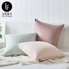 Office nap pillow Original Lf Lavfier Solid Color American 60cm Medium Goose Feather Pillow Office Nap Pillow Waist Bedside Backrest Yoycart Usd 9921 Lf Lavfier Solid Color American 60cm Medium Goose Feather