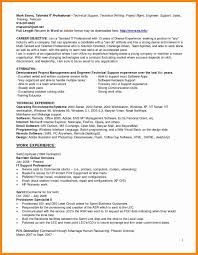 Resume Format Experienced Technical Support Engineer Fresh 44